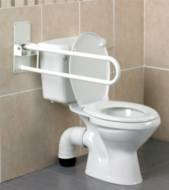 Barre d'appui WC relevable Devon Homecraft | Autonomie & vie quotidienne