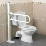 Barre d'appui WC Devon Homecraft fixation au sol | Autonomie & vie quotidienne