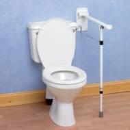 Barre d'appui WC avec pied Premium Homecraft | Autonomie & vie quotidienne