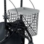 Aides à la mobilité / Panier avec plateau pour rollator 3 roues