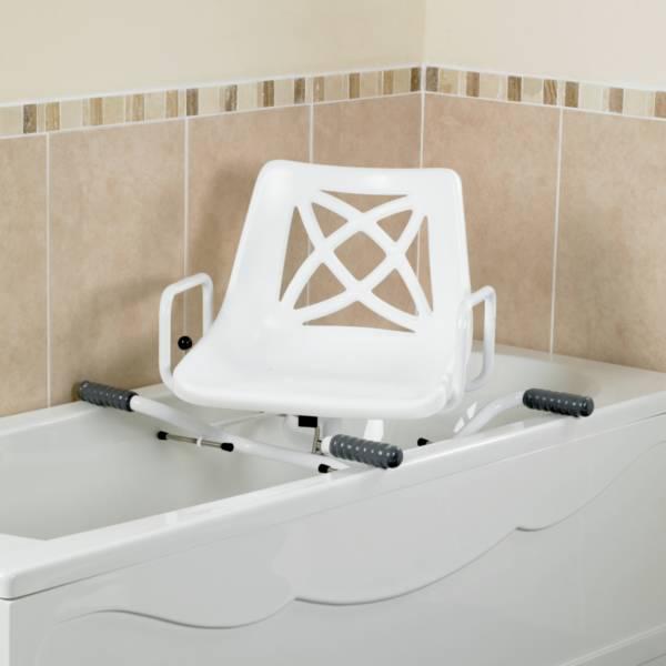 Siège de bain pivotant ajustable en largeur | Autonomie & vie quotidienne