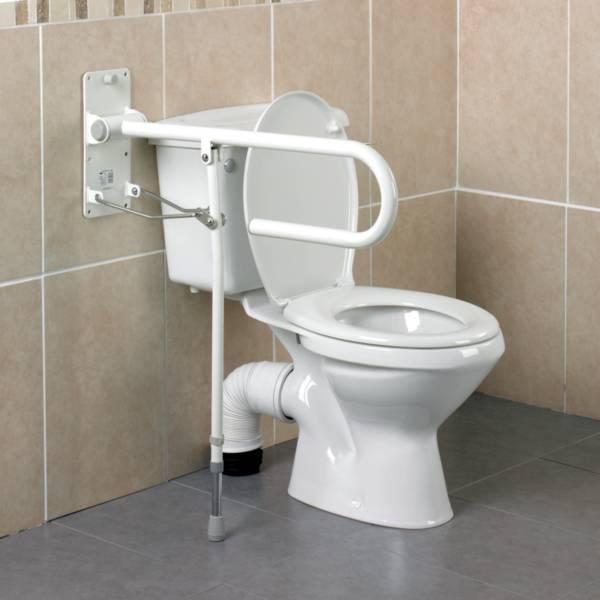 Barre d'appui WC Devon avec pied Homecraft | Autonomie & vie quotidienne