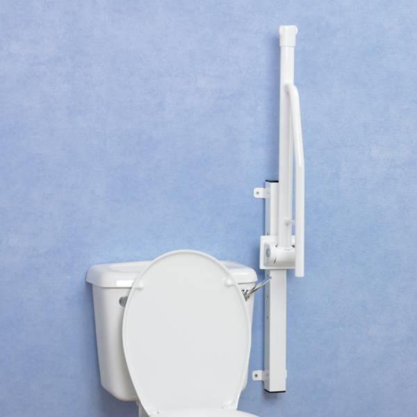 Barre d'appui WC relevable sur rail Devon Elite Homecraft | Autonomie & vie quotidienne