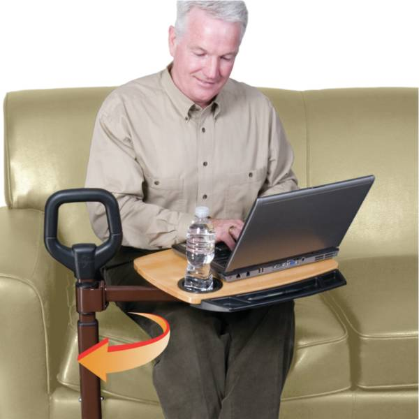 Aide à la levée de fauteuil CouchCane™ avec tablette | Aides à la mobilité