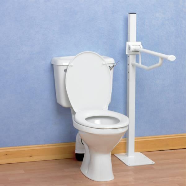 Barre d'appui WC Devon Elite Homecraft fixation au sol | Autonomie & vie quotidienne