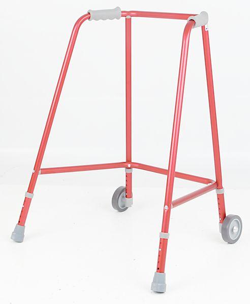 Aides à la mobilité / Déambulateur 2 roues rouge standard - Small
