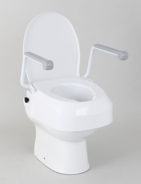 Autonomie & vie quotidienne / Siège rehausseur de toilettes hauteur ajustable avec accoudoirs