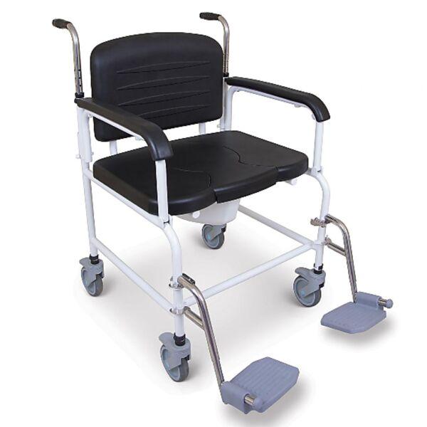 Chaise percée bariatrique à roulettes XXL | Autonomie & vie quotidienne
