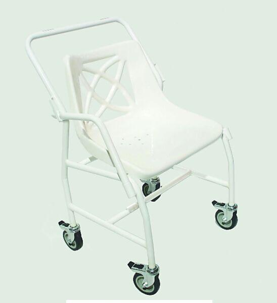 Chaise de douche mobile avec bras amovibles - Homecraft | Autonomie & vie quotidienne
